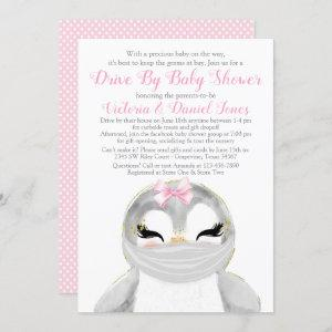 Cute Penguin with Mask Drive By Baby Shower