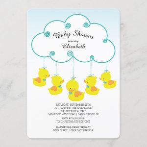 Cute Rubber Duck Baby Shower Invitations