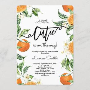 Cuties Oranges Baby Shower Invitation