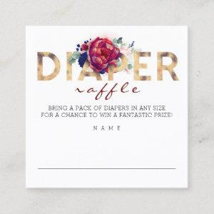 Diaper Raffle Baby Shower Square Business Card