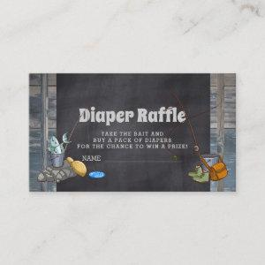 Diaper Raffle Fishing Boy Baby Shower Insert Cards
