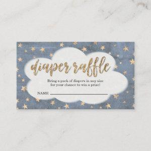 Diaper Raffle Ticket Insert for Boy's Baby Shower