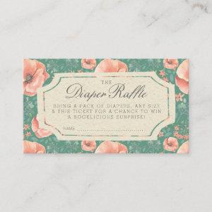 DIAPER RAFFLE TICKET | Storybook Baby Shower Enclosure Card
