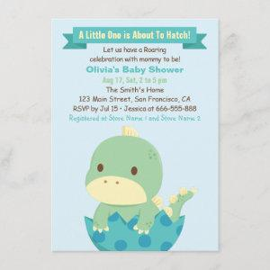 Dinosaur About to Hatch Baby Shower