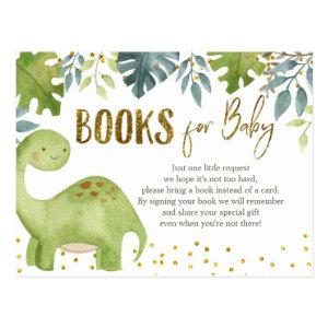 Dinosaur Baby Shower Books for Baby Card