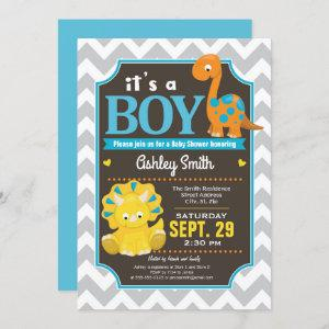 Dinosaur Baby Shower Invitation Boy