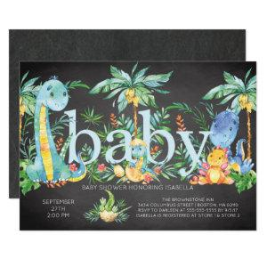 Dinosaurs Gender Neutral Baby shower Invitation