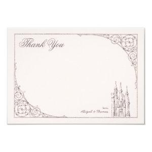 Disney Princess Castle | Baby Shower Thank You Invitation