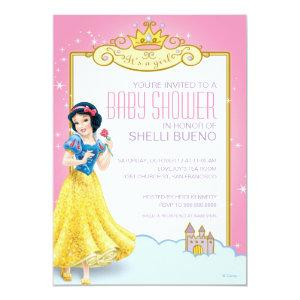 Disney Snow White It's a Girl Baby Shower Invitation