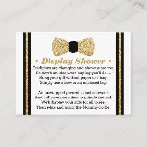 Display Shower Card, Little Man, Bow Tie Enclosure Card