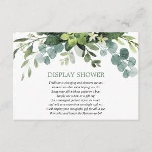Display shower Eucalyptus foliage greenery Enclosure Card