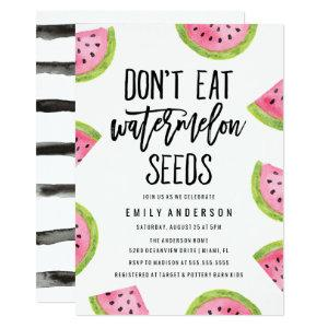Don't Eat Watermelon Seeds   Baby Shower Invitation