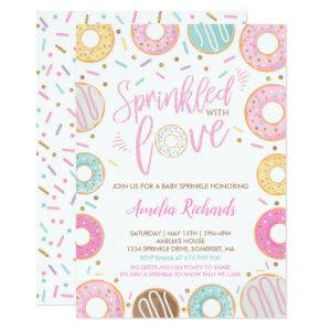 Donut Baby Sprinkle Invitation Sprinkled With Love