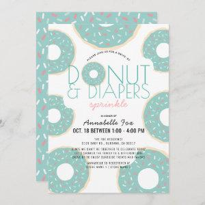 Donut & Diapers Sprinkle Mint Drive-by Baby Shower