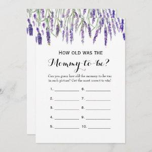 Double Side- 2 Baby Shower Games- How Old   Advice