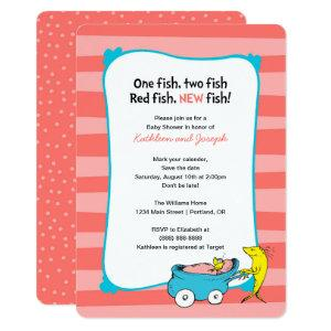 Dr. Seuss | One Fish - Girl Baby Shower Invitation