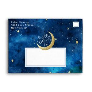 Dreams Do Come True Moon Stars Baby Shower 5x7 Envelope