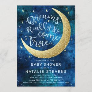 Dreams Really Do Come True Moon Stars Baby Shower