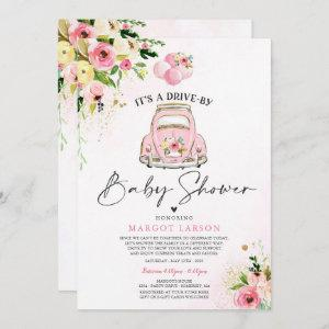 Drive By Baby Shower  Pink Floral Shower