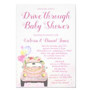 Drive By Covid Baby Shower Invitation