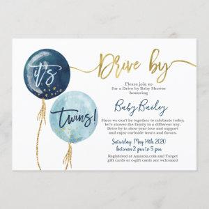 Drive by Twins Baby shower boy