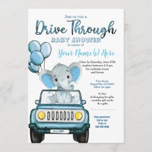 Drive Through Baby Shower Elephant in Car