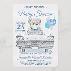 Drive Through Baby Shower for a Boy