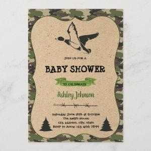 Duck hunting party theme invitation card