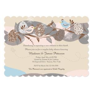 Easter Chicks Couples Baby Shower Invitation
