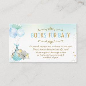 Elephant Balloons Baby Shower Bring a Book Instead Enclosure Card