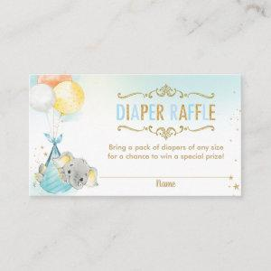 Elephant Balloons Baby Shower Diaper Raffle Ticket Enclosure Card