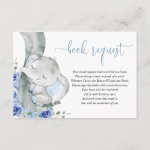 Elephant boy blue floral book instead of card