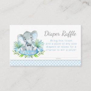 Elephant Diaper Raffle Tickets Enclosure Card