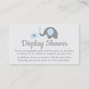 Elephant Display Shower Inserts in Blue and Gray