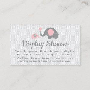 Elephant Display Shower Inserts in Pink and Gray