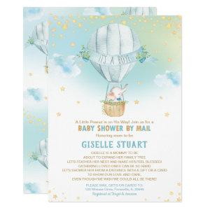 Elephant Hot Air Balloon Baby Shower by Mail Boy Invitation