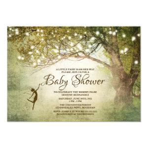 Enchanted Fairytale String Lights Baby Shower Invitation