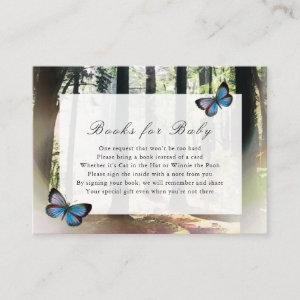 Enchanted Forest Baby Shower Books for Baby Enclosure Card