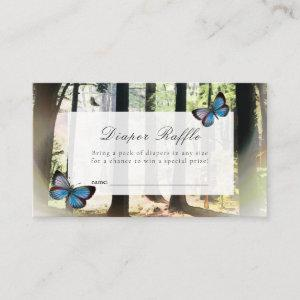 Enchanted Forest Baby Shower Diaper Raffle Ticket Enclosure Card
