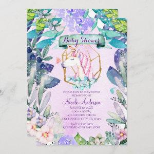 Enchanted Forest Magical Unicorn Baby Shower