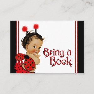 Ethnic Girl Ladybug Bring a Book Cards