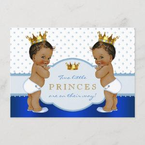 Ethnic Prince Twin Boy Baby Shower Invitation