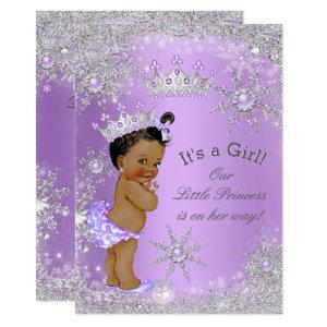 Ethnic Princess Baby Shower Lavender Wonderland Invitation