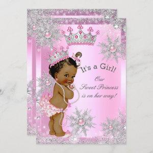 Ethnic Sweet Princess Baby Shower Wonderland Pink Invitation