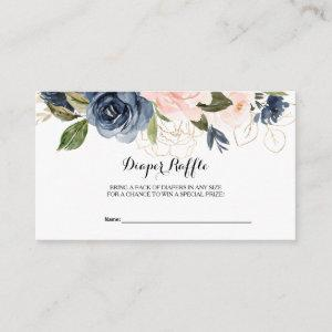 Exquisite Fall Floral  Diaper Raffle Enclosure Card