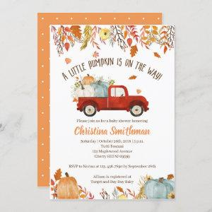 Fall Baby Shower  for a Boy
