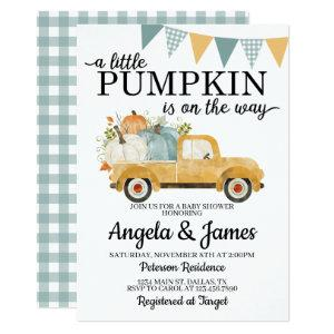 Fall Truck Baby Shower Invitation Pumpkin Patch