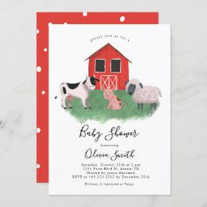 Farm Animals Gender Neutral Baby Shower Invitation