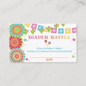 Fiesta Baby Shower Diaper Raffle Card