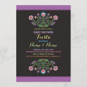 Fiesta Baby Shower Mexican Girl Boy Flower Invite